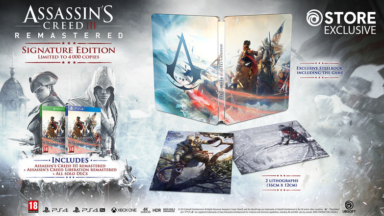 Assassin's Creed III Signature Edition content summary