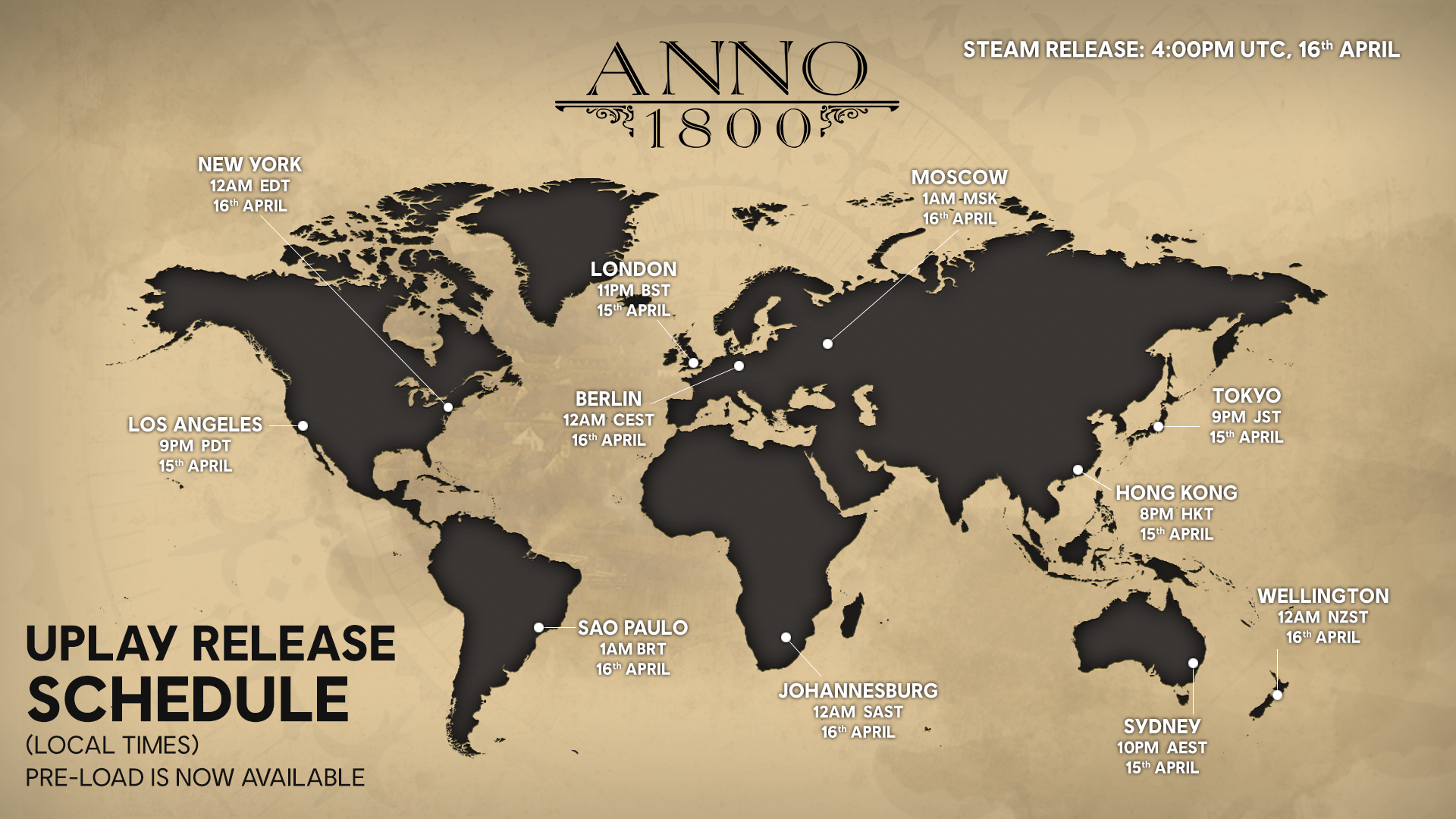 Anno 1800 Release Shedule