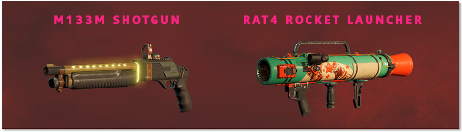 Image of the contents of the Retro Weapons Pack