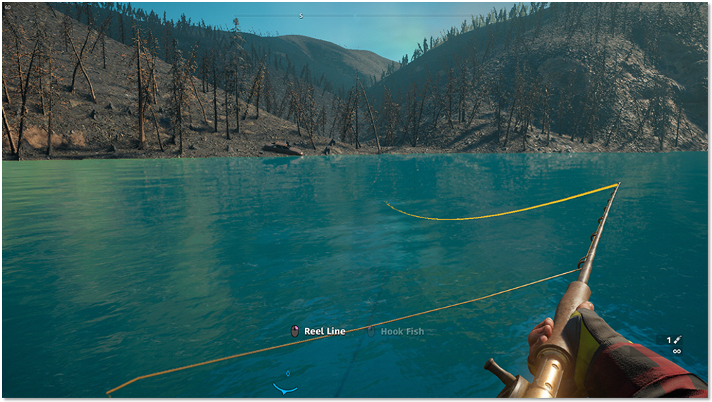 Image of the fishing interface