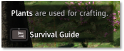 Survival Guide tip about Plants