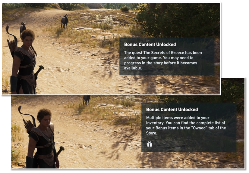 In-game notification