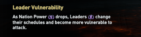 Leader vulnerability loading screen hint