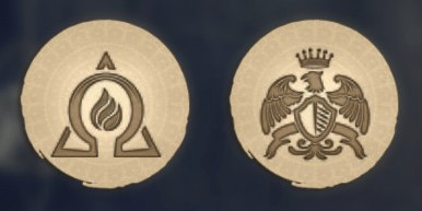 Anno 1800 Logos Promethean Fire and Eagle Crest