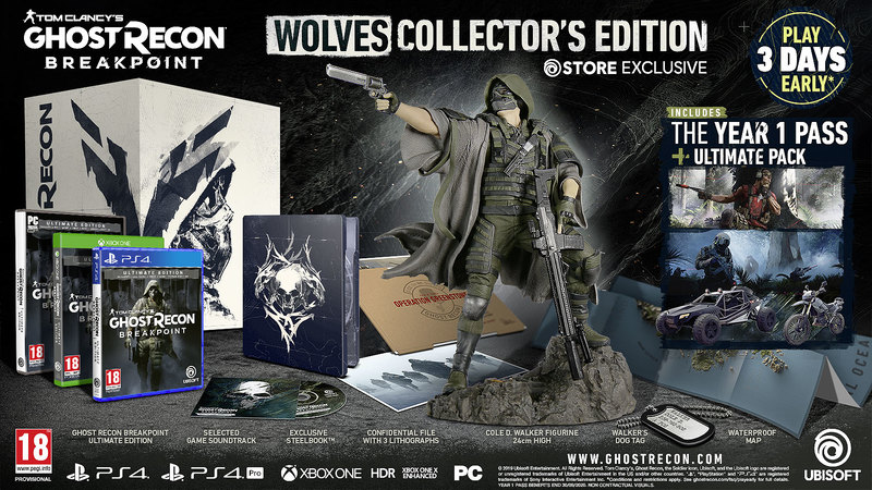 Content of the Wolves Collectors Edition
