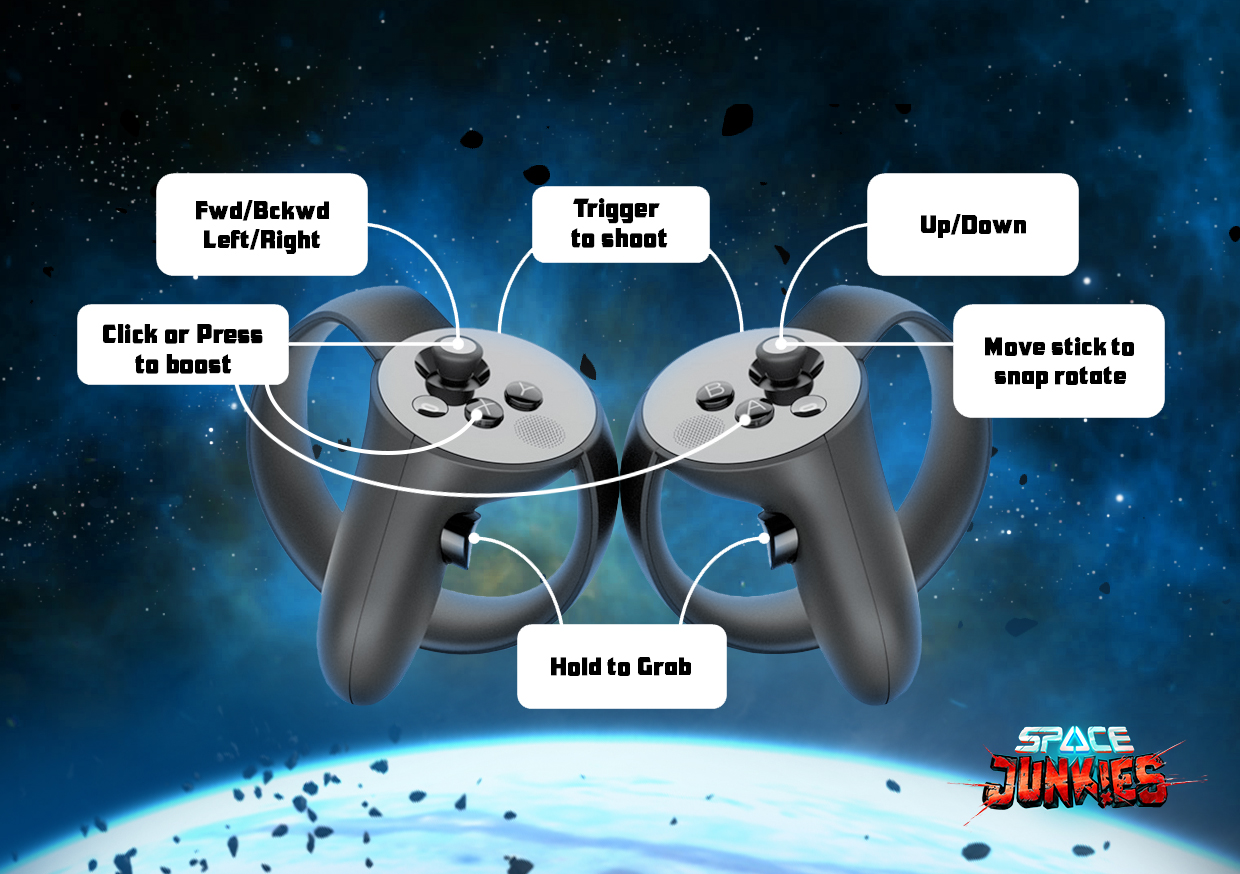 Space Junkies Oculus Touch Controller Mapping